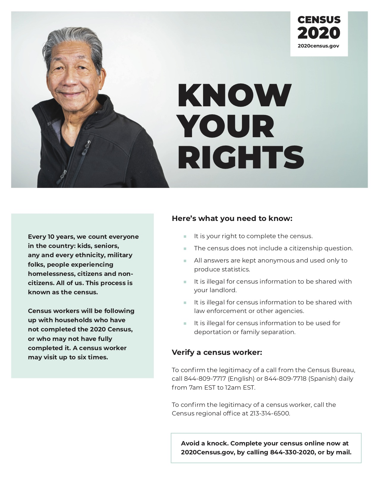 Census Know your rights Flyer